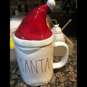 Rae Dunn Santa mug with hat